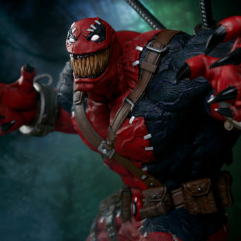 looking up at Venompool, as he grins wide