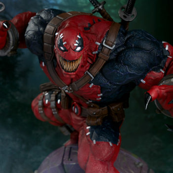 looking down on a grinning Venompool