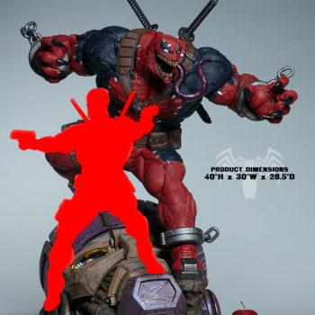 Venompool Size comparison with Deadpool 1:3 scale
