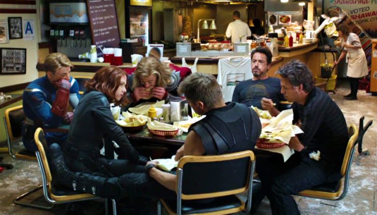 The Shawarma Scene from The Avengers 2012