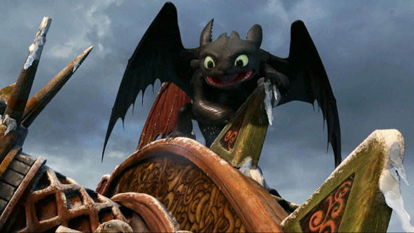 Toothless the Dragon on a Wooden Structure