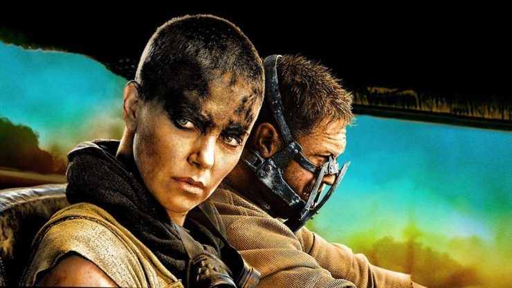 Charlize Theron and Tom Hardy in Mad Max: Fury Road
