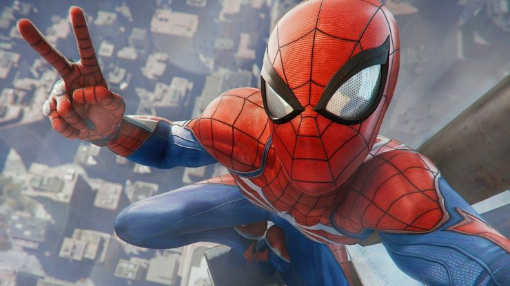 Spider-Man Taking a Selfie from Marvel's Spider-Man for PS4