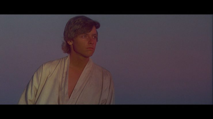 Mark Hamill as Luke Skywalker in Star Wars: A New Hope (1977)