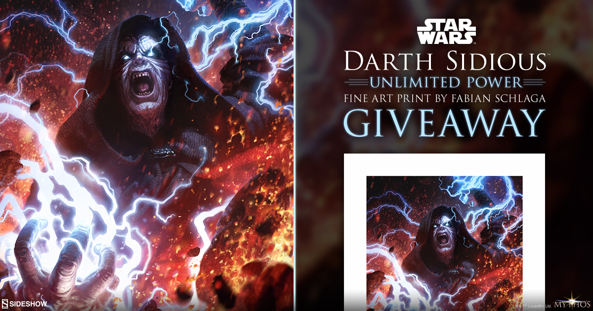 Darth Sidious: Unlimited Power Art Print Giveaway