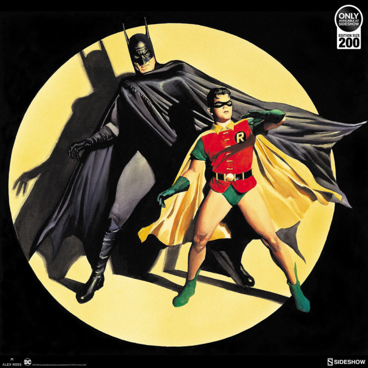 The Dynamic Duo! Fine Art Lithograph by Alex Ross Art