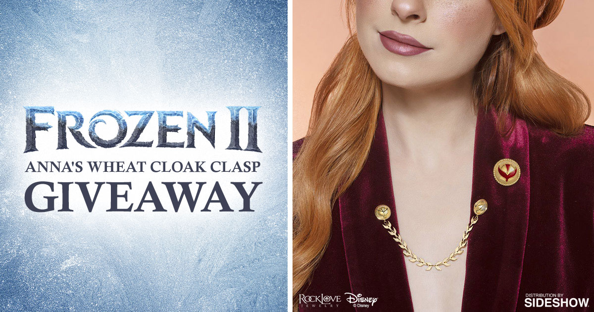 Disney's Frozen 2 Anna's Wheat Cloak Clasp Giveaway