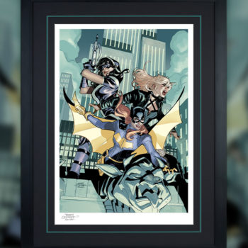 Batgirl and the Birds of Prey Fine Art Print Black Frame 1