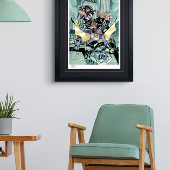 Batgirl and the Birds of Prey Fine Art Print Black Frame
