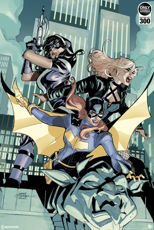 Take Off with the Batgirl and the Birds of Prey Fine Art Print by Artists Terry and Rachel Dodson