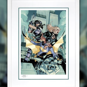 Batgirl and the Birds of Prey Fine Art Print White Frame