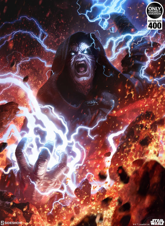 Unleash the Force with the Darth Sidious™: Unlimited Power Fine Art Print by Fabian Schlaga