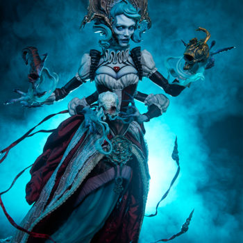 Ellianastis The Great Oracle Premium Format Figure full body with blue glow
