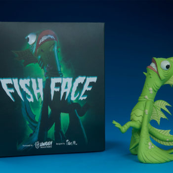 Fish Face Designer Toy with its box