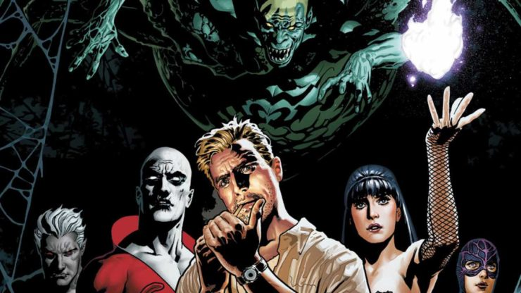 Members of Justice League Dark prepare to call upon magical forces