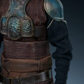 Lando Calrissian Skiff Guard Version Sixth Scale Figure close up on fabric of left arm