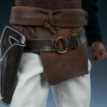 Lando Calrissian Skiff Guard Version Sixth Scale Figure close up on belt