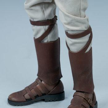 Lando Calrissian Skiff Guard Version Sixth Scale Figure close up on boots