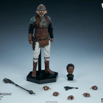 Lando Calrissian Skiff Guard Version Sixth Scale Figure view of full figure with all accessories