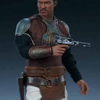 Lando Calrissian Skiff Guard Version Sixth Scale Figure with his gun drawn