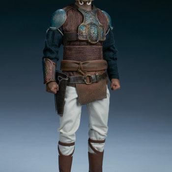 Lando Calrissian Skiff Guard Version Sixth Scale Figure full body front view helmet on