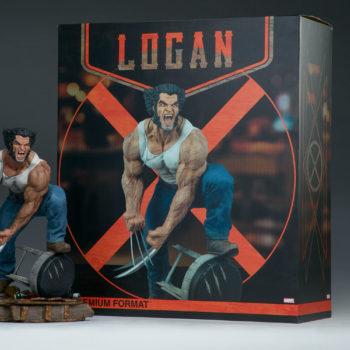 Logan Premium Format Figure next to box