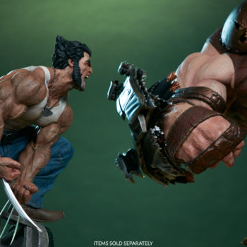 Logan Premium Format Figure toe to toe with the Juggernaut Maquette close up