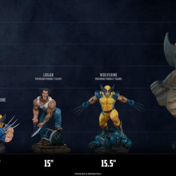 Logan Premium Format Figure size comparison to other Wolverine Pieces