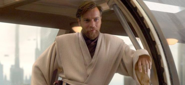 Obi-Wan leaning in a doorway