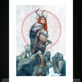 Red Sonja Queen of Hyrkania Fine Art Print Unframed