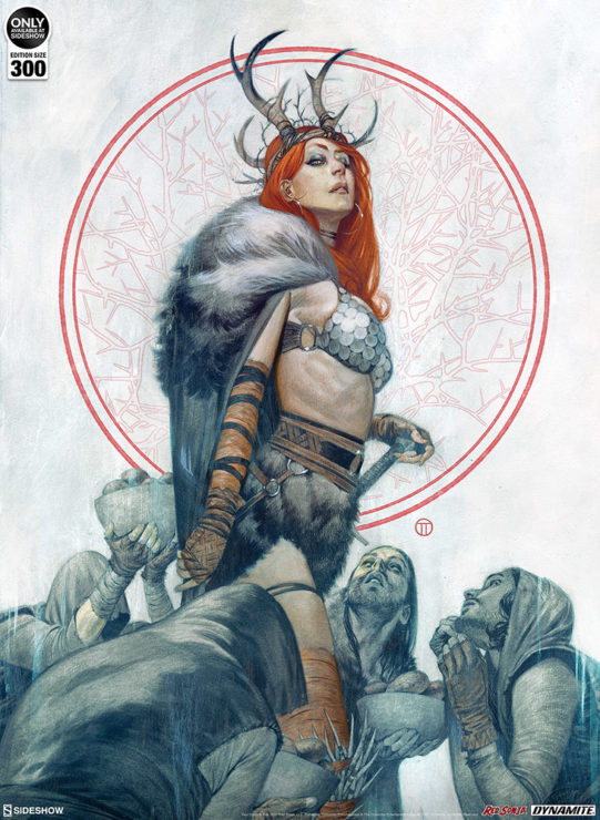 All Hail The Red Sonja: Queen of Hyrkania Fine Art Print by Artist Julian Totino Tedesco