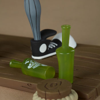 Smiles Designer Toy converse on empties green bottles