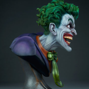 full right view of The Joker Life-Size Bust