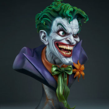 full 3/4ths right view of The Joker Life-Size Bust
