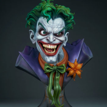 full front view of The Joker Life-Size Bust