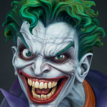 front view closeup on The Joker Life-Size Bust