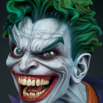left view close up on The Joker Life-Size Bust