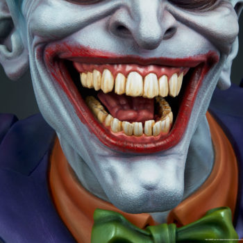front close up view on The Joker Life-Size Bust