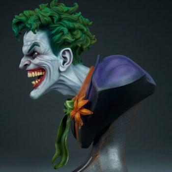 Left side full view of The Joker Life-Size Bust