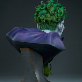 3/4ths right back view of The Joker Life-Size Bust