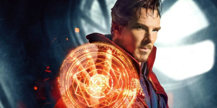 Benedict Cumberbatch as Doctor Strange Casting a Spell