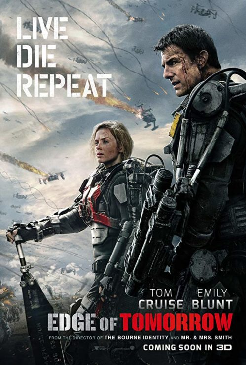Edge of Tomorrow Movie Poster with Tom Cruise and Emily Blunt