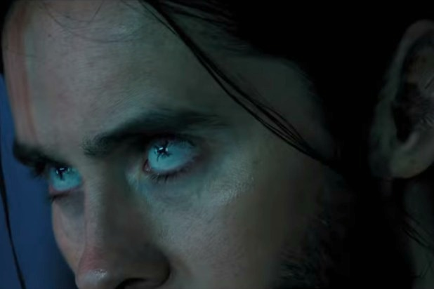 Jared Leto as Morbius with White Eyes