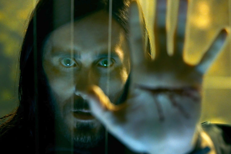Jared Leto With Blood on His Hand from Morbius Teaser Trailer