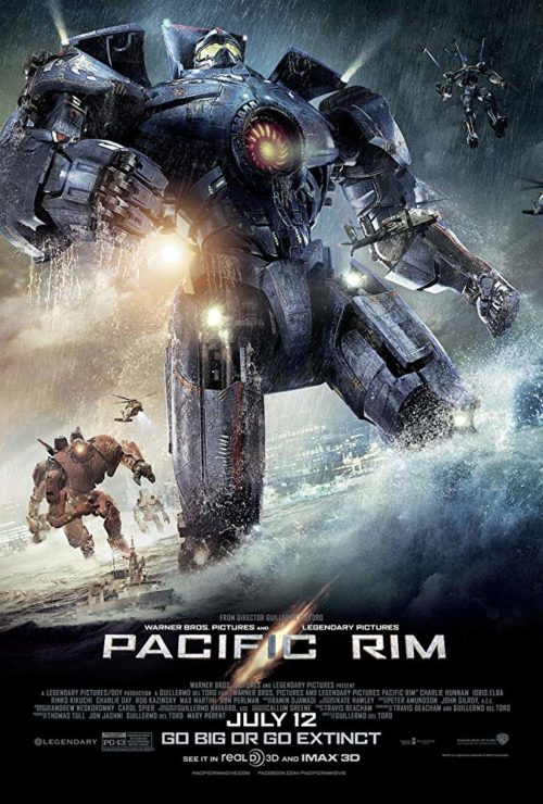 Pacific Rim Poster with Jaeger Robots