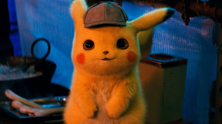 CG Animated Pikachu from Detective Pikachu Film