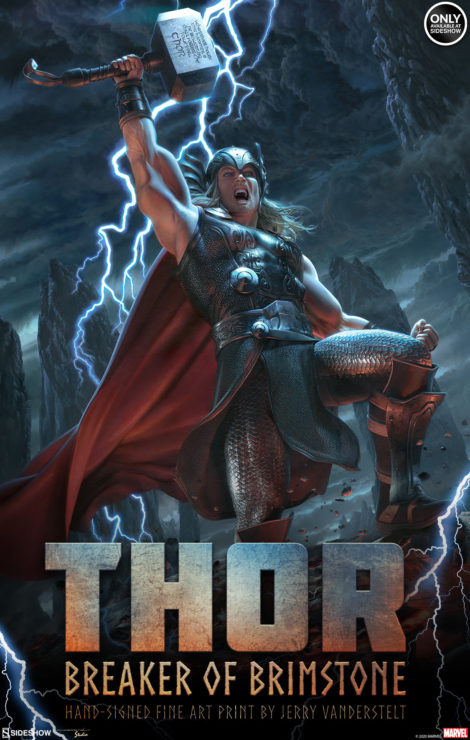 Verily, Artist Jerry Vanderstelt Takes on Thor in the Breaker of Brimstone Fine Art Print