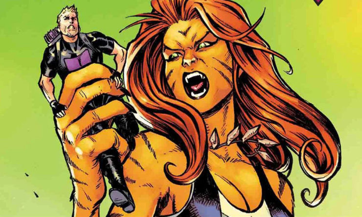 Marvel's Tigra from West Coast Avengers Cover