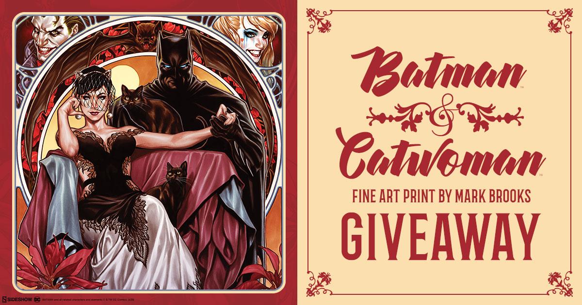 Batman & Catwoman Art Print Giveaway