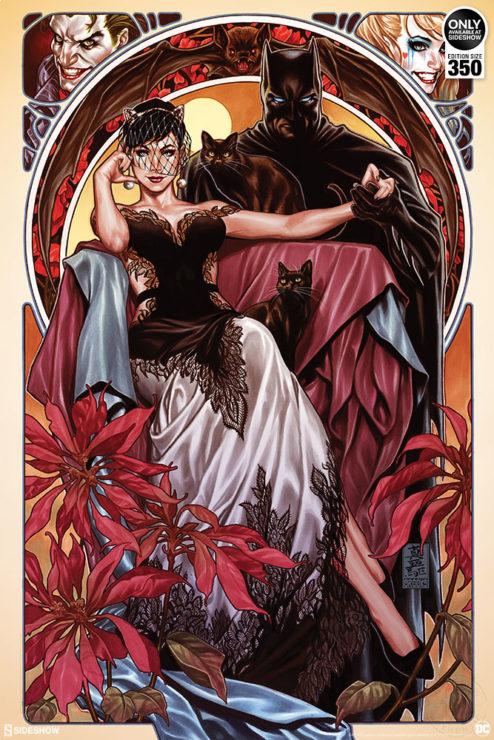 The Batman & Catwoman Fine Art Print by Artist Mark Brooks